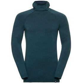 Odlo Natural + Kinship LS Shirt with Facemask Men blue coral melange